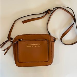 Brown camera bag style crossbody